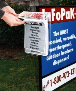InfoPak JR Outdoor Brochure Box Holders Real Estate Value Pack of 40